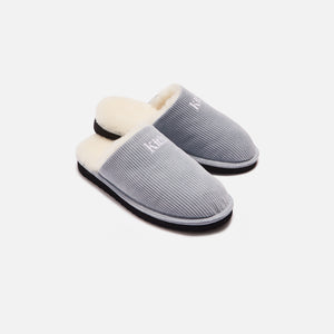 Kith Corduroy Sherpa Slipper - Light Indigo Blue Image 8