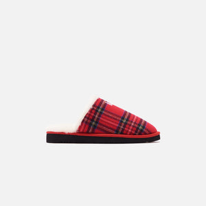 Kith Flannel Sherpa Slipper - Red / Multi
