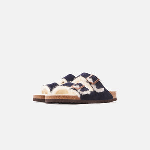 Kith for Birkenstock Arizona Shearling - Navy Blazer / Natural