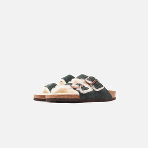 Kith for Birkenstock Arizona Shearling Scarab - Green / Natural