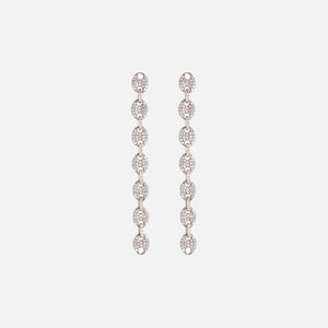 Luv AJ The Pave Mariner Link Drop Earrings - Silver