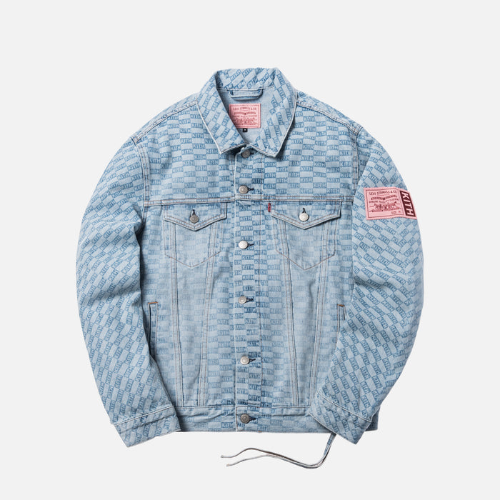 Kith x Levi's Salt Bleached AOP Trucker - Light Blue