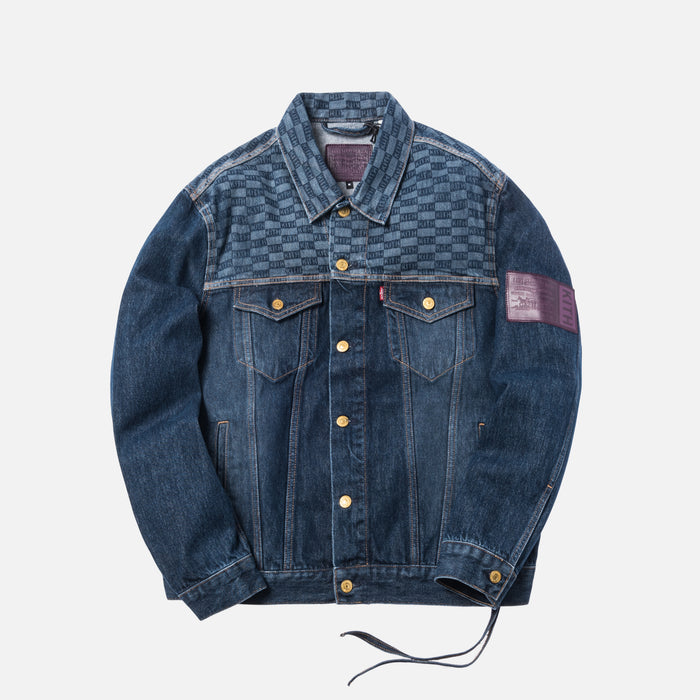 Kith x Levi's Print Trucker Jacket - Dark Blue