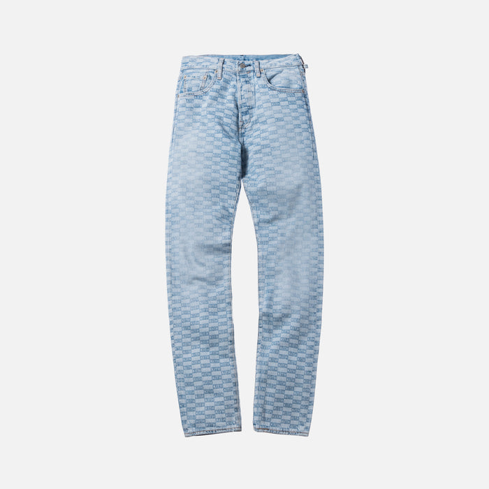 Kith x Levi's Salt Bleached AOP 501 - Light Blue