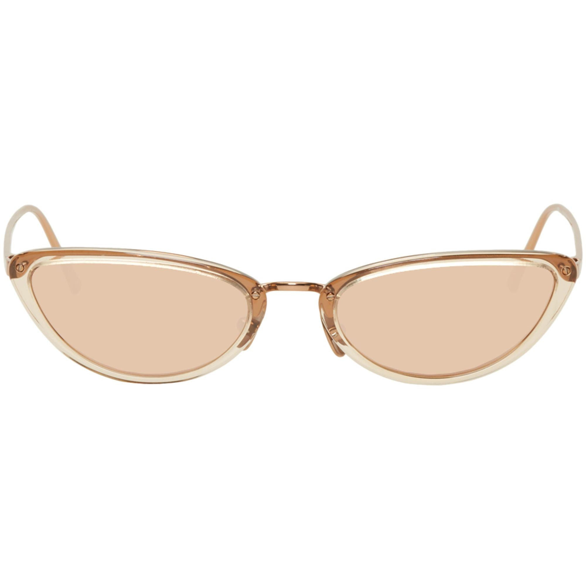 Linda Farrow Small Cat Eye Rose Gold - Pink