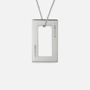 Le Gramme 3.4g Pendant With Chain - Sterling Silver