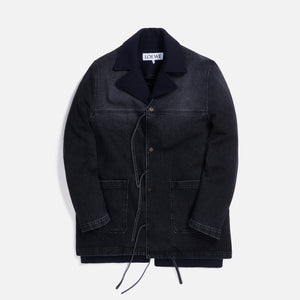 Loewe Double Layer Denim Coat - Black / Navy