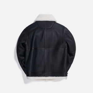 Loewe Shearling Avaitor Jacket - Black / White