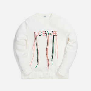Loewe Stitch Sweater - White / Pink / Green