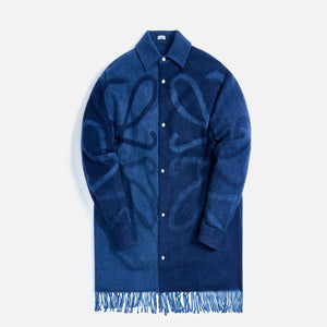Loewe Anagram Blanket Shirt - Dark Navy Blue