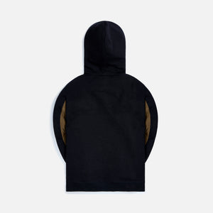 Loewe Reverse Fleece Hoodies - Navy / Black