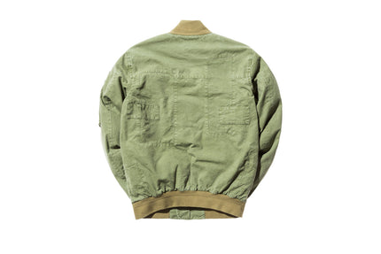 John Elliott Paneled Flight Jacket - Washed Olive