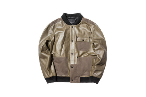 T by Alexander Wang Leather Bomber - Army