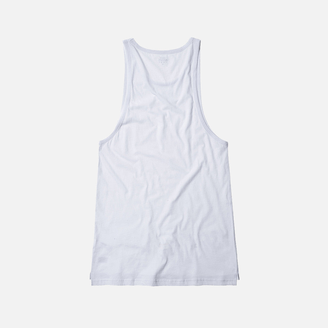 Stampd Elongated Tank - White