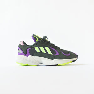 adidas Originals Yung 1 - Legend Ivy / Hi-Res Yellow / Active Purple