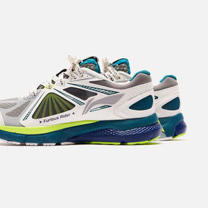 Li-Ning Furious Rider Ace 3 - White / Teal / Lime Green Image 4