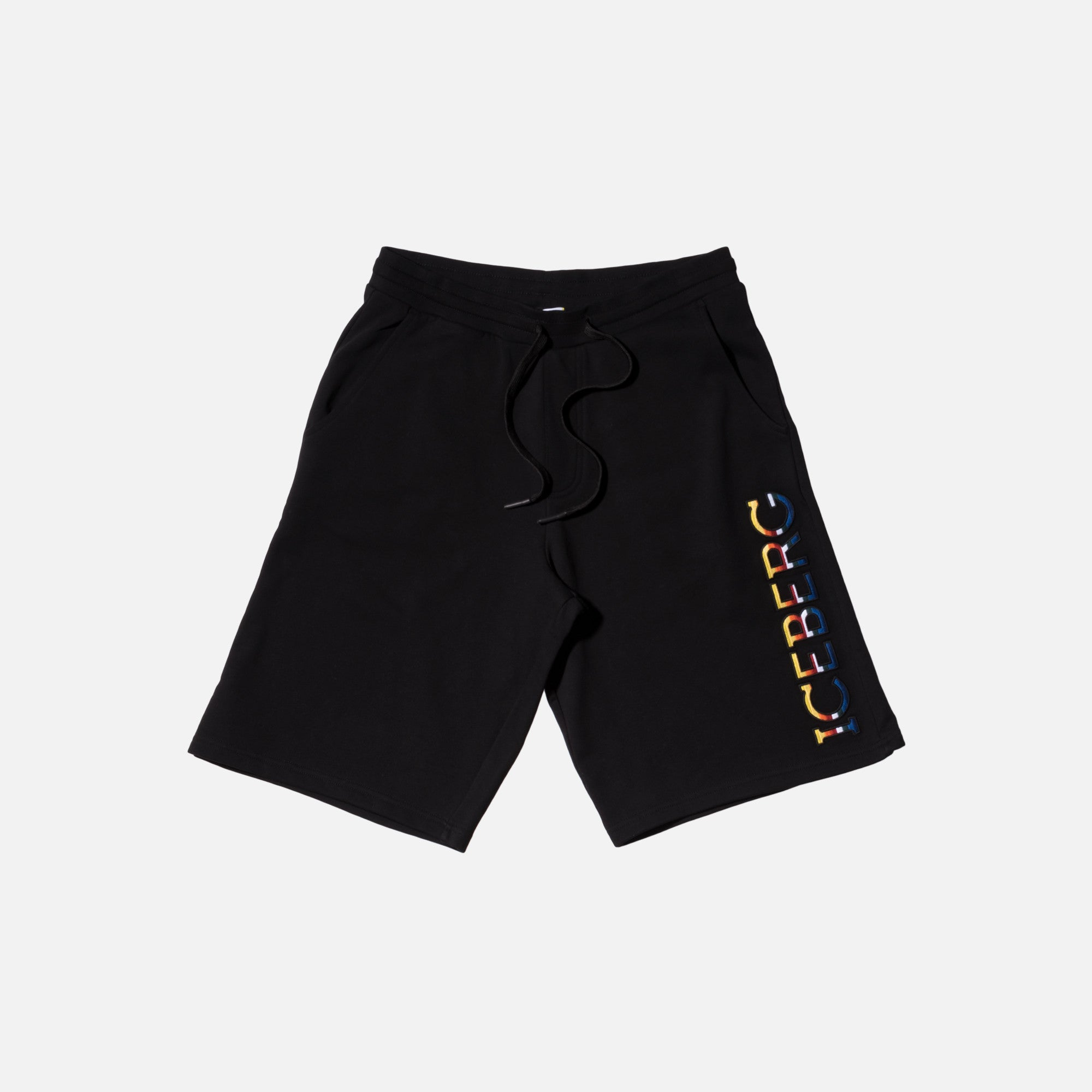 Iceberg Logo Shorts - Black