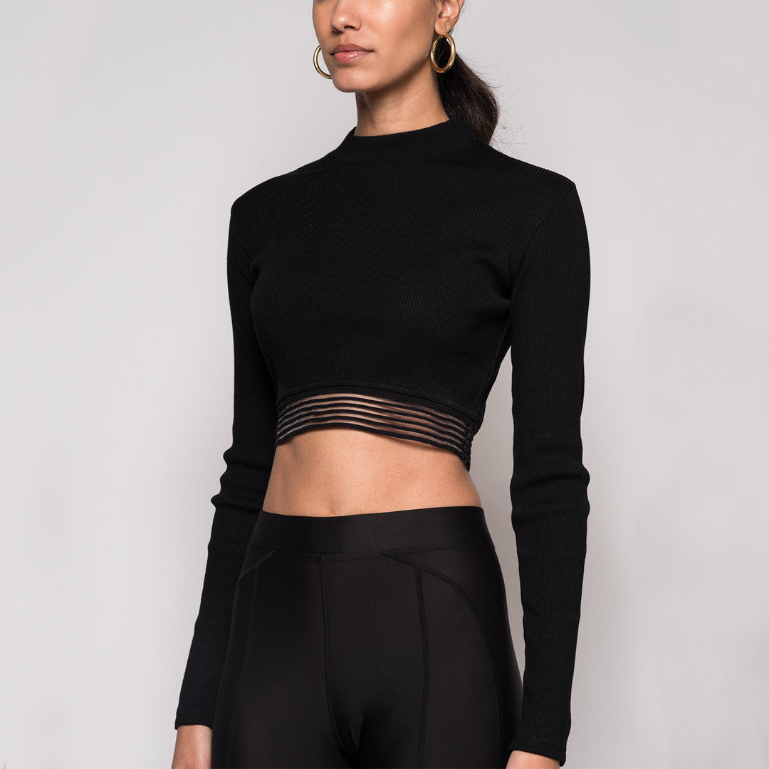 Kith Sofia Crop Top - Black