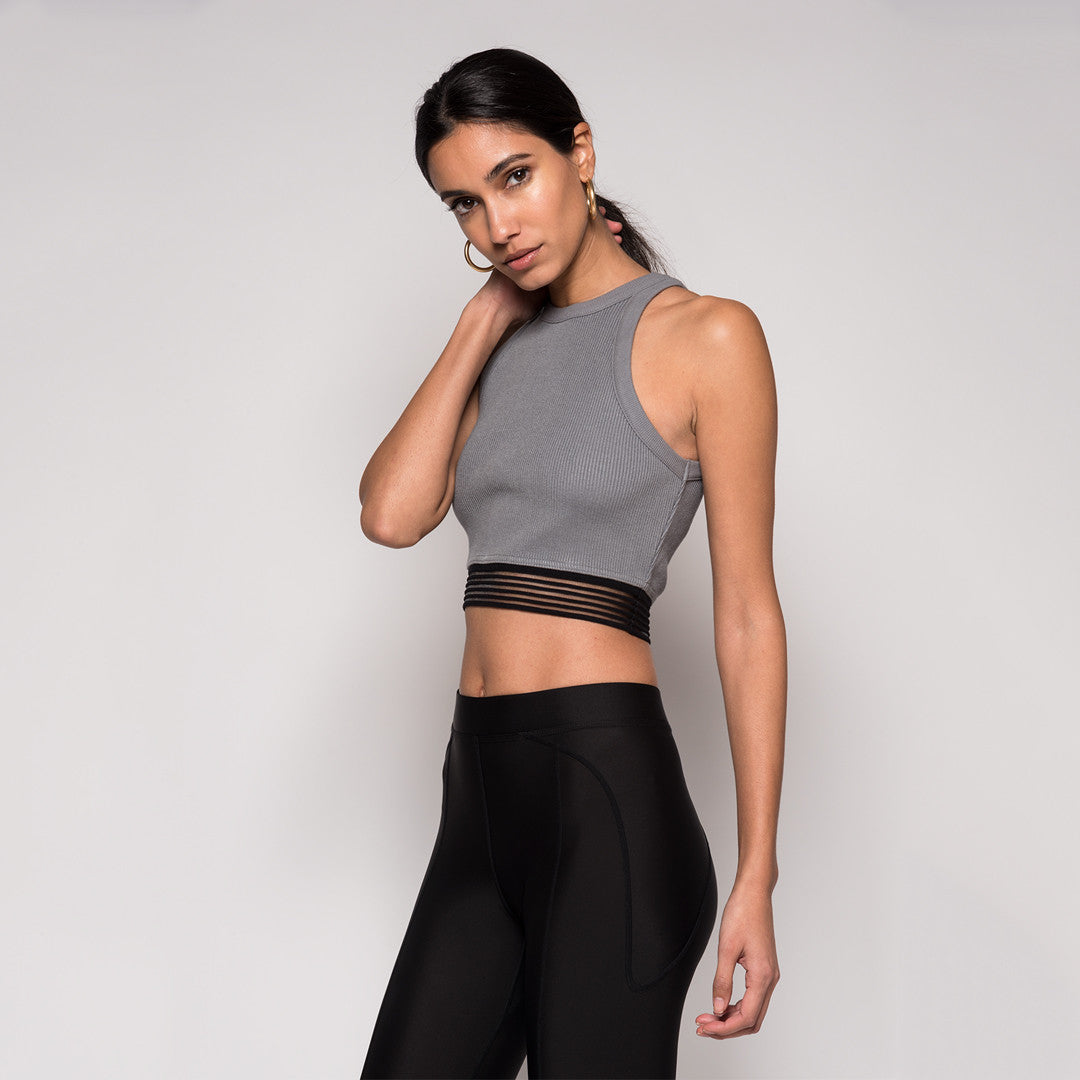 Kith Massi Crop Top - Wild Dove Grey