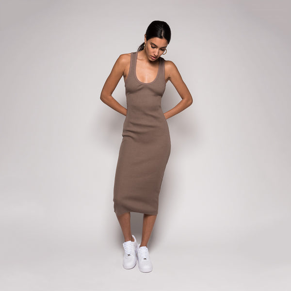 Kith Alyssa Dress - Taupe
