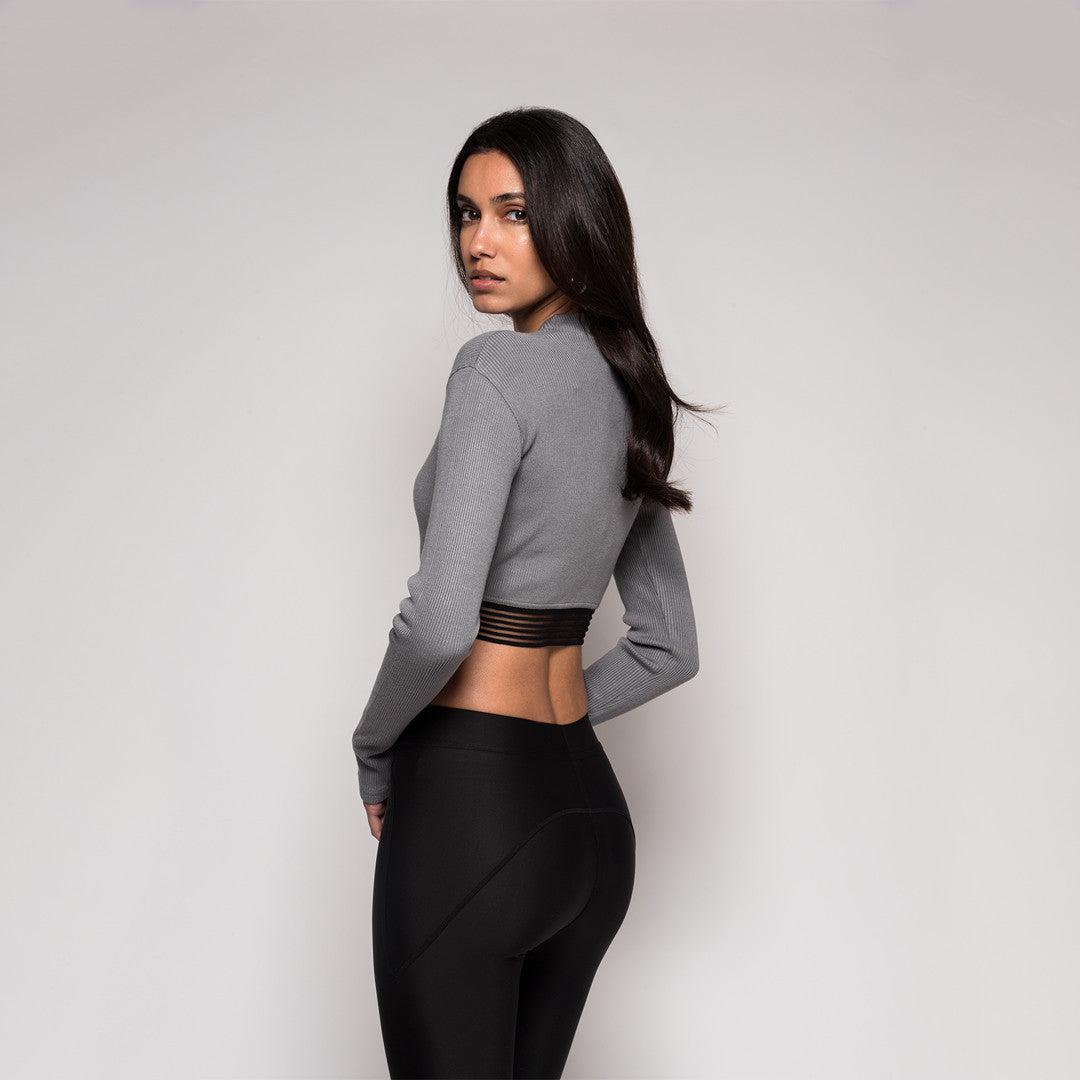 Kith Sofia Crop Top - Wild Dove Grey