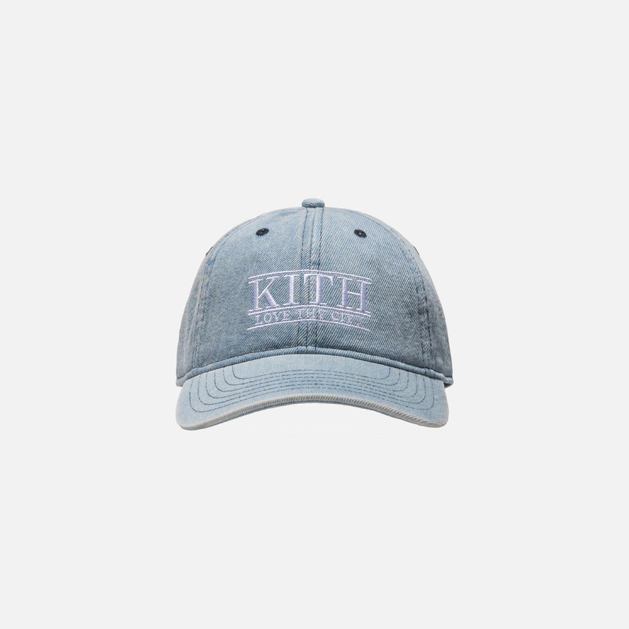Kith Love Thy City Cap - Washed Denim