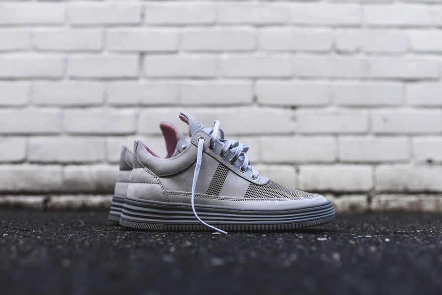 Filling Pieces Low Top Stripe Perf - Grey
