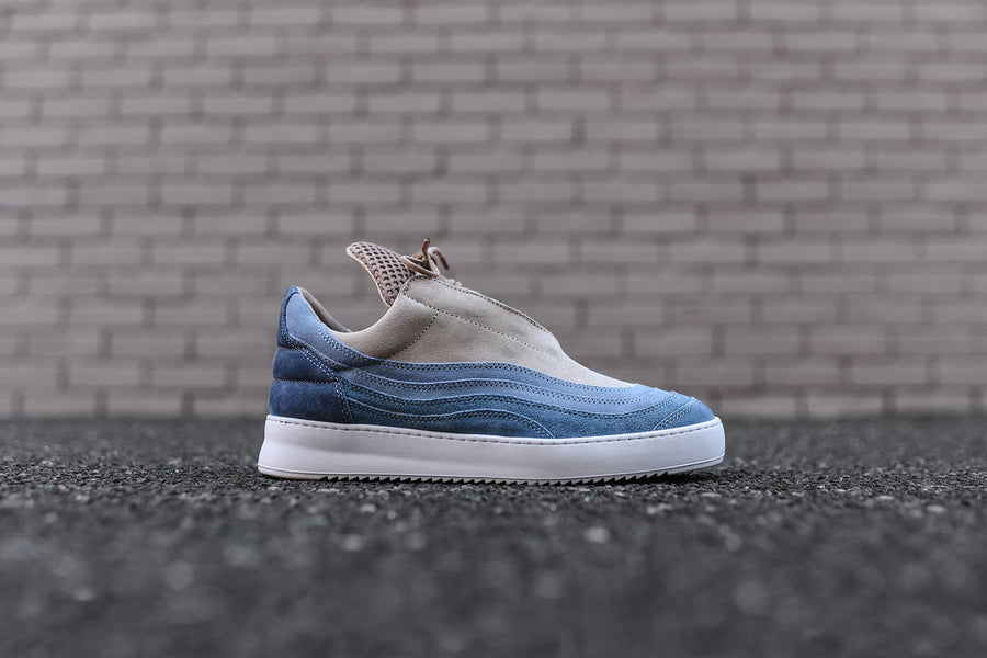 Filling Pieces Yoshida Low Top - Blue / Green / Tan
