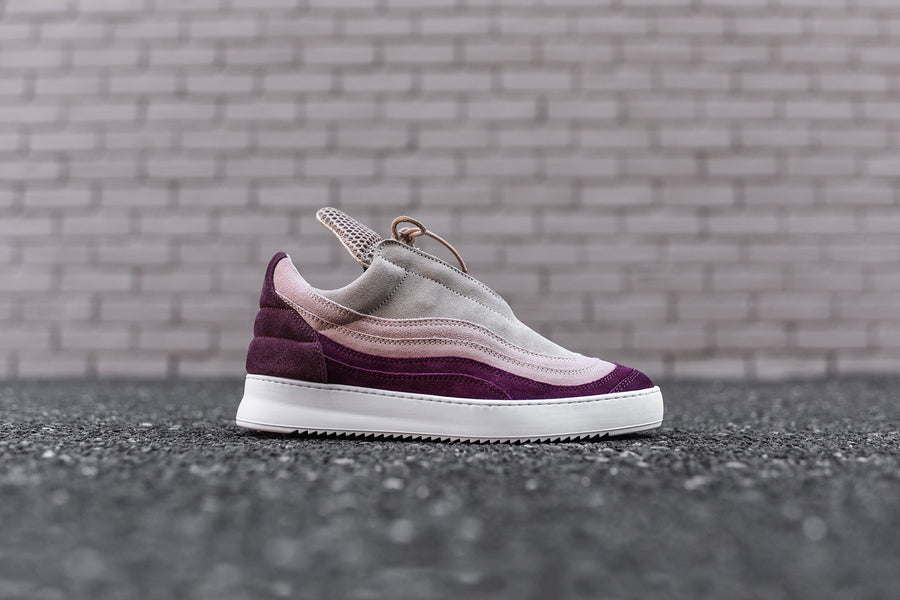 Filling Pieces Low Top - Cranberry / Pink / Tan