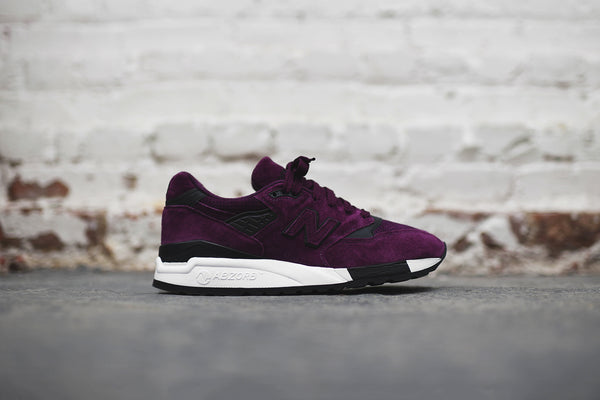 New Balance M998CM - Burgundy / White