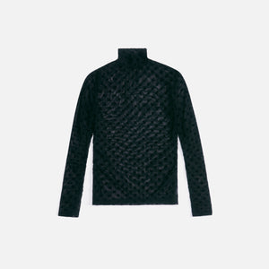 MISBHV Monogram Mesh Turtleneck - Black