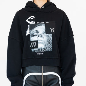 Kith Women x MISBHV Eternal Nights Cropped Hoodie - Black
