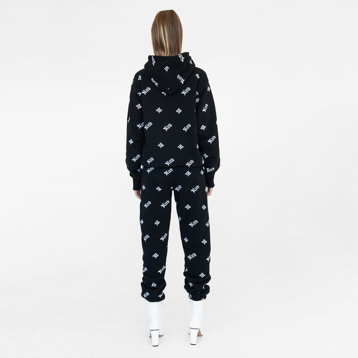 Kith Women x MISBHV Monogram Embroidered Hoodie - Black