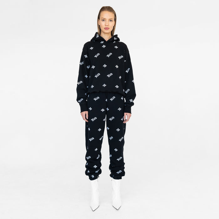 Kith Women x MISBHV Monogram Embroidered Sweatpants - Black