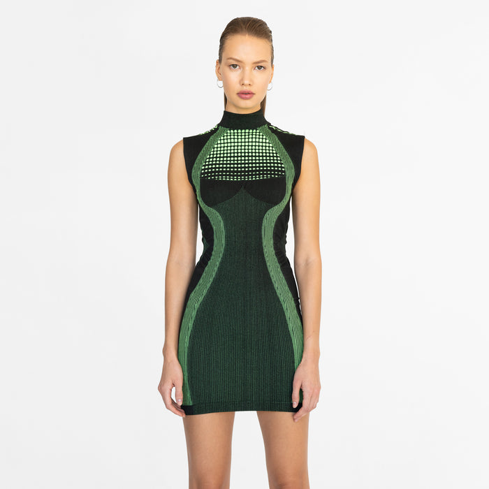 Kith Women x MISBHV Active Dress - Black / Green