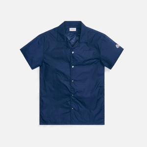 Moncler Camica Button-Up Logo Shirt - Navy