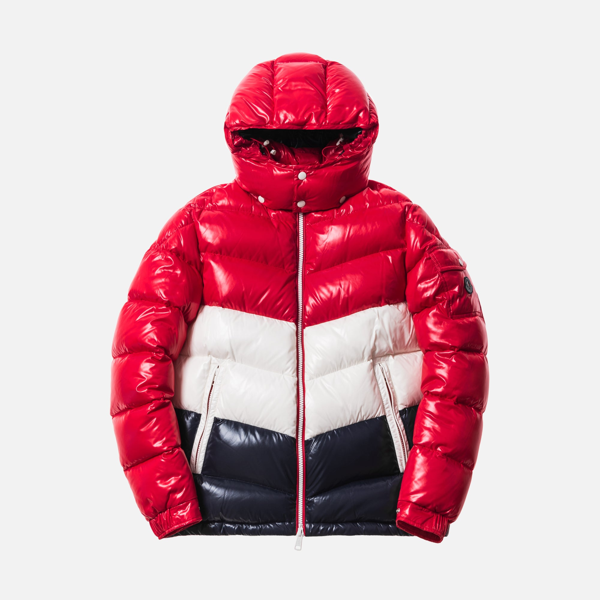 Kith x Moncler Rochebrune Classic Down Jacket - Red / White / Navy