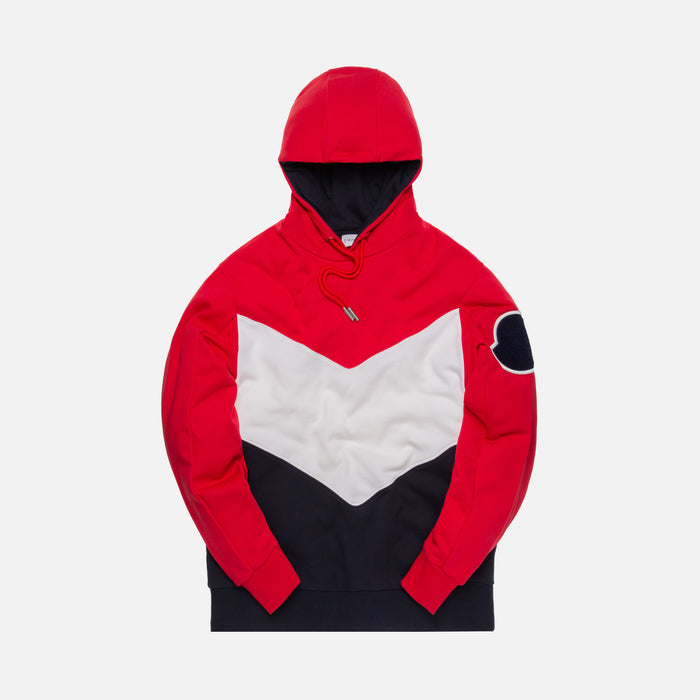 Moncler Maglia Hoodie - Red / White / Navy