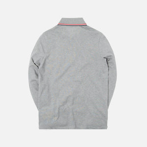 Moncler Maglia Polo Manica Lunga - Light Grey