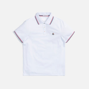 Moncler Maglia Flag Piping Polo - White