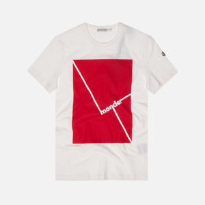 Moncler Maglia Graphic Tee - White / Red
