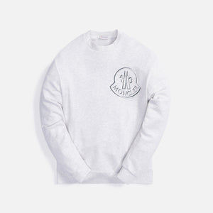 Moncler Maglia Girocollo Crewneck - Heather Grey