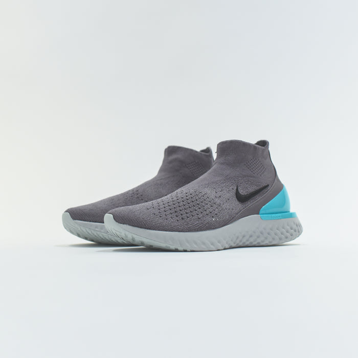 Nike Rise React Flyknit - Gunsmoke / Black / Dark Stucco