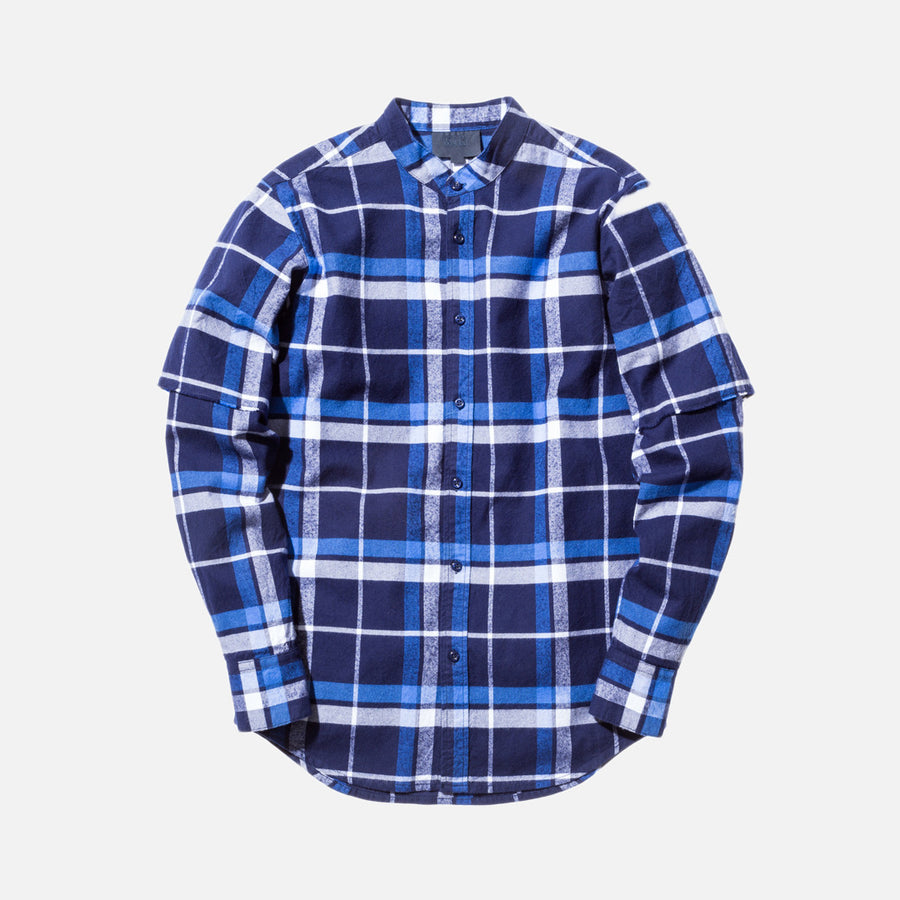 Kith Saratoga L/S Shirt - Blue Plaid
