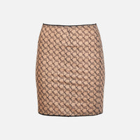 Miaou Mini Moni Skirt - Nude Monogram Thumbnail 1