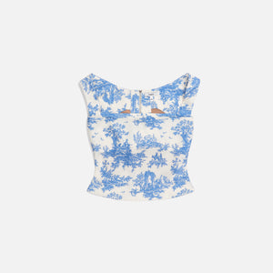 Miaou Exclusive Imogene Corset - Blue Toile