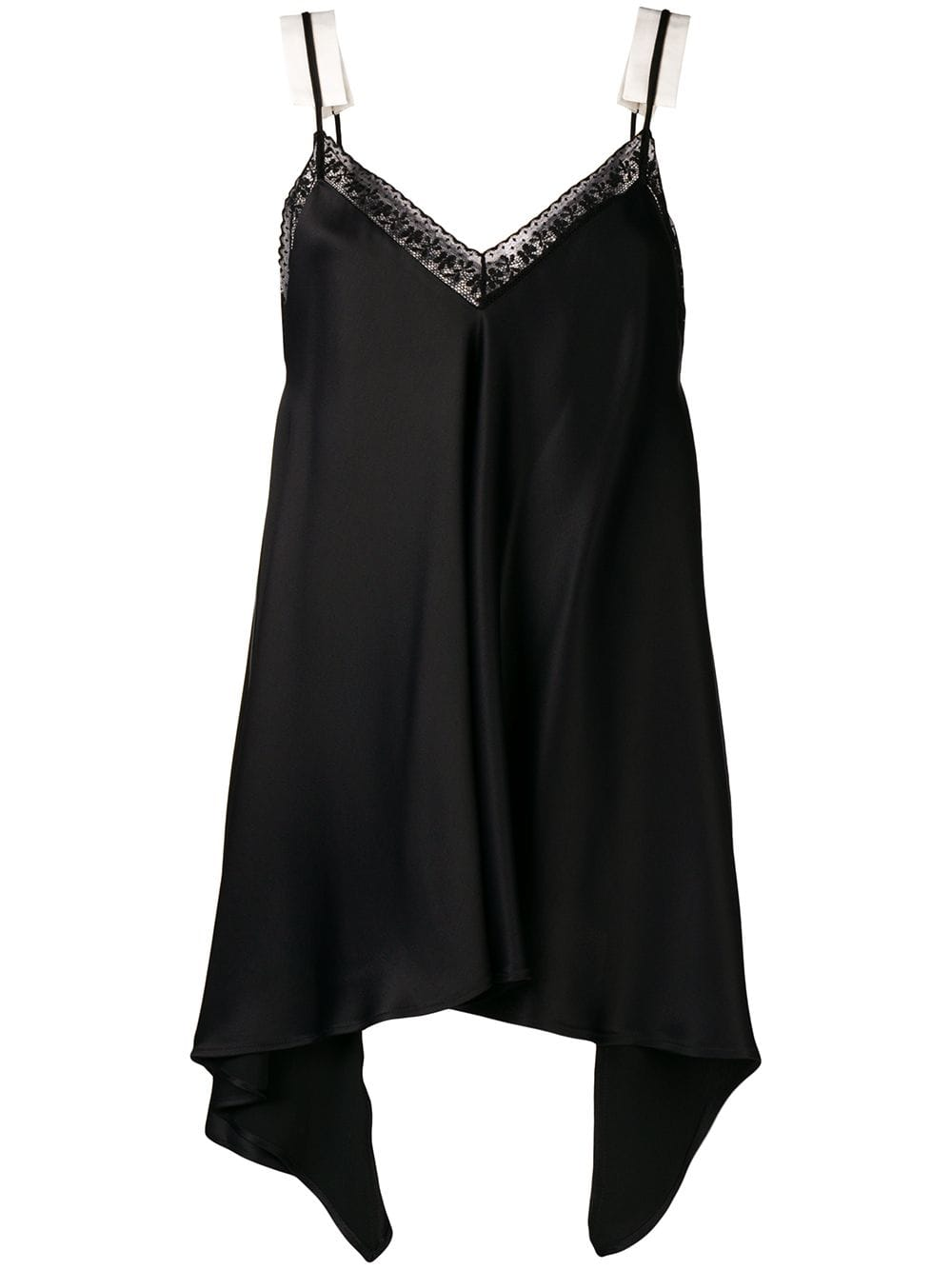 MM6 Heavy Fluid Satin Top - Black