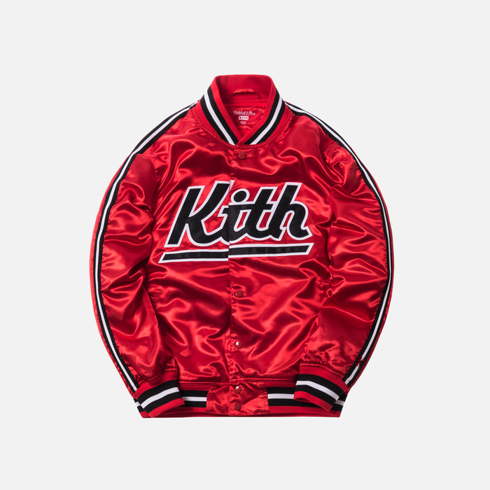 Kith x Mitchell & Ness Satin Warm-Up Jacket - Miami