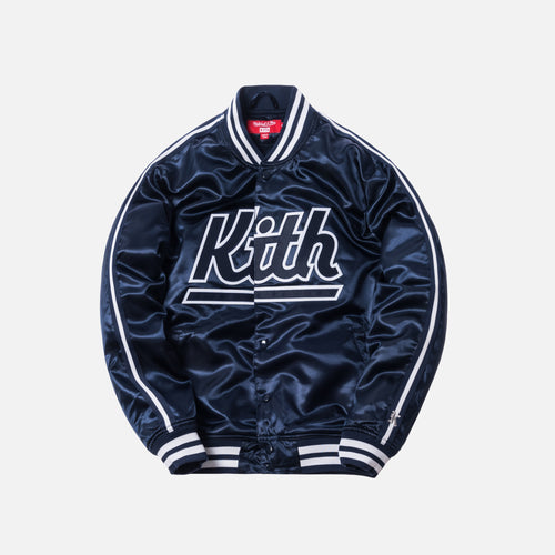 Kith x Mitchell & Ness Satin Warm-Up Jacket - New York