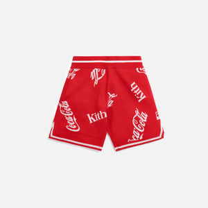 Kith x Coca-Cola x Mitchell & Ness Coke Logo Short - Red
